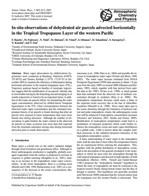 In Situ Observations of Dehydrated Air P... by Hasebe, F.
