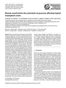 Remote Sensed and in Situ Constraints on... by Sauvage, B.