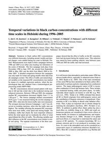 Temporal Variations in Black Carbon Conc... by Järvi, L.