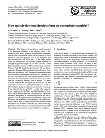 How Quickly Do Cloud Droplets Form on At... by Ruehl, C. R.