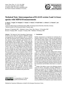 Technical Note: Intercomparison of Ilas-... by Wetzel, G.