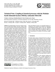 Technical Note: Coupling of Chemical Pro... by Jöckel, P.