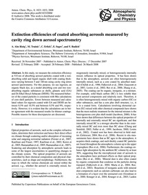 Extinction Efficiencies of Coated Absorb... by Abo Riziq, A.