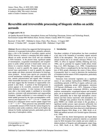 Reversible and Irreversible Processing o... by Liggio, J.