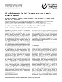 Air Pollution During the 2003 European H... by Tressol, M.