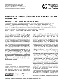The Influence of European Pollution on O... by Duncan, B. N.