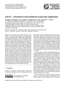 Salsa – a Sectional Aerosol Module for L... by Kokkola, H.