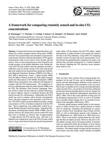 A Framework for Comparing Remotely Sense... by MacAtangay, R.