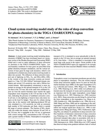 Cloud System Resolving Model Study of th... by Salzmann, M.