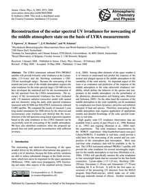 Reconstruction of the Solar Spectral Uv ... by Egorova, T.