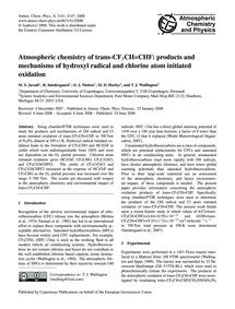 Atmospheric Chemistry of Trans-cf3Ch=chf... by Javadi, M. S.