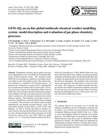 Gem-aq, an On-line Global Multiscale Che... by Kaminski, J. W.
