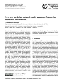Seven Year Particulate Matter Air Qualit... by Gupta, P.