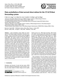 Data Assimilation of Dust Aerosol Observ... by Niu, T.