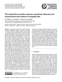 The Tropical Forest and Fire Emissions E... by Yokelson, R. J.