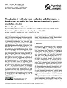 Contribution of Residential Wood Combust... by Krecl, P.