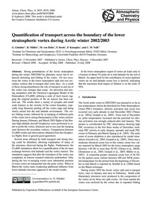 Quantification of Transport Across the B... by Günther, G.