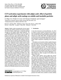 Ccn Activation Experiments with Adipic A... by Hings, S. S.
