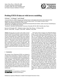 Probing Etex-ii Data Set with Inverse Mo... by Krysta, M.
