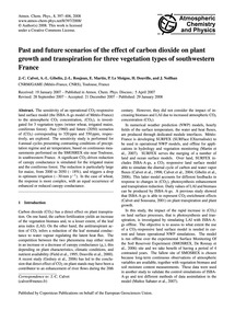 Past and Future Scenarios of the Effect ... by Calvet, J.-c.
