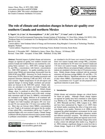 The Role of Climate and Emission Changes... by Tagaris, E.