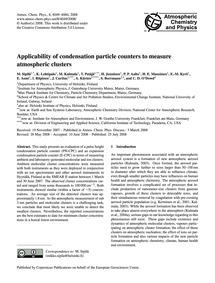 Applicability of Condensation Particle C... by Sipilä, M.