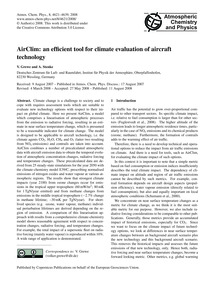 Airclim: an Efficient Tool for Climate E... by Grewe, V.