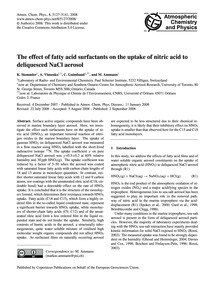 The Effect of Fatty Acid Surfactants on ... by Stemmler, K.