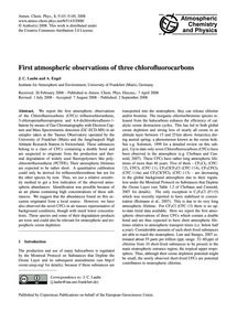 First Atmospheric Observations of Three ... by Laube, J. C.