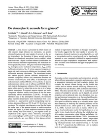 Do Atmospheric Aerosols Form Glasses? : ... by Zobrist, B.