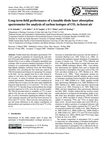 Long-term Field Performance of a Tunable... by Schaeffer, S. M.