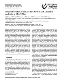 Surface Observation of Sand and Dust Sto... by Wang, Y. Q.