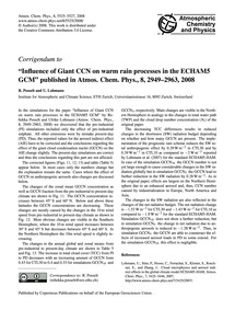 Corrigendum to Influence of Giant Ccn on... by Posselt, R.