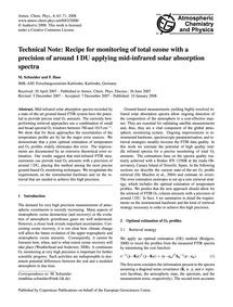 Technical Note: Recipe for Monitoring of... by Schneider, M.