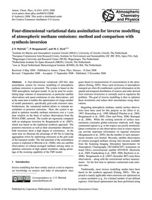 Four-dimensional Variational Data Assimi... by Meirink, J. F.