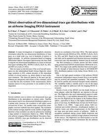 Direct Observation of Two Dimensional Tr... by Heue, K.-p.