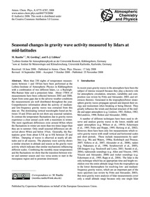 Seasonal Changes in Gravity Wave Activit... by Rauthe, M.