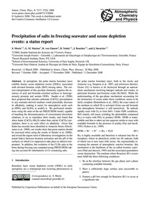 Precipitation of Salts in Freezing Seawa... by Morin, S.