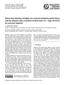 Direct Determination of Highly Size-reso... by Schmidt, A.