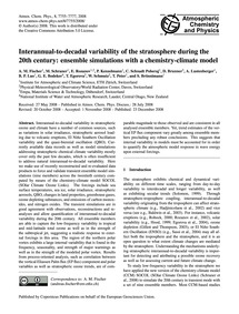 Interannual-to-decadal Variability of th... by Fischer, A. M.