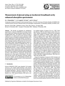 Measurement of Glyoxal Using an Incohere... by Washenfelder, R. A.