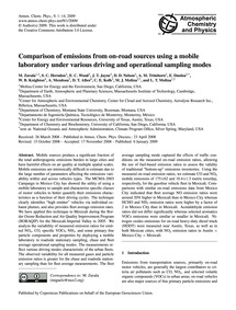 Comparison of Emissions from On-road Sou... by Zavala, M.