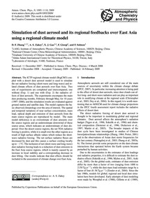 Simulation of Dust Aerosol and Its Regio... by Zhang, D. F.