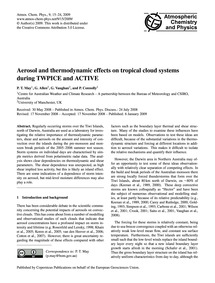 Aerosol and Thermodynamic Effects on Tro... by May, P. T.