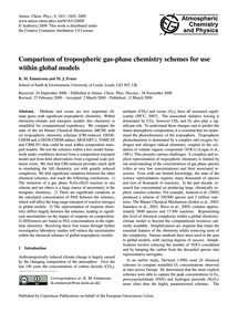 Comparison of Tropospheric Gas-phase Che... by Emmerson, K. M.