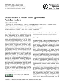 Characterisation of Episodic Aerosol Typ... by Qin, Y.