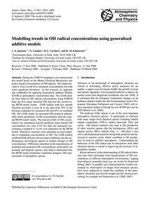 Modelling Trends in Oh Radical Concentra... by Jackson, L. S.