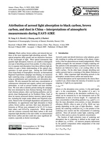 Attribution of Aerosol Light Absorption ... by Yang, M.
