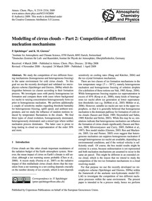 Modelling of Cirrus Clouds – Part 2: Com... by Spichtinger, P.