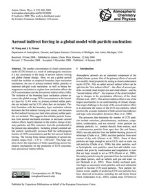 Aerosol Indirect Forcing in a Global Mod... by Wang, M.